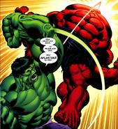 Hulk Golpeando a Rulk