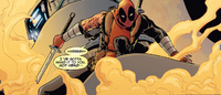 Deadpool Kills the Marvel Universe Issue 1 Deadpool in Fire