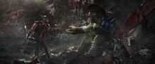 Тор пытается успокоить Халка - Рагнарек