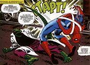 El Lagarto (Curis Connors) peleando con Spider-Man (Peter Parker)
