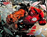 Wolverine vs Hulk Rojo