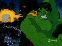 Ghost Rider Dodges Hulk