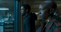 BP T'Challa and Okoye are listening interrogation of Klaue
