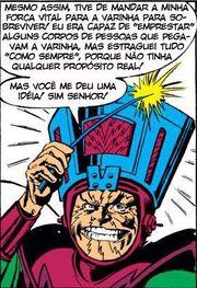 Molecule Man's Galactus inspired helmet from Avengers Vol 1 215