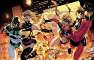 Ms. Marvel y Capitan Marvel en la invasion Skrull