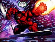 Red Hulk con los Poderes Cósmicos de Terrax y Silver Surfer