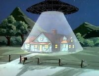 SW season 1 12 UFO over the house
