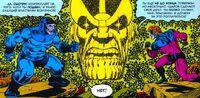 Thanos intervenes in the conflict