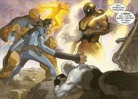 Ronan is announcing the sentence to Fantastic Four Earth-1610