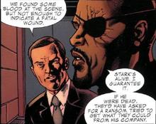 Колсон и Фьюри обсуждают похищение Старка - Iron Man- Security Measures