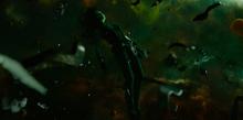 Гамора в открытом космосе - Стражи галактики