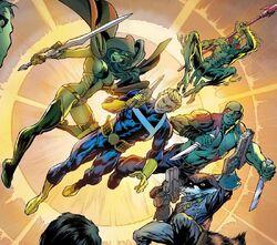 Guardianes de la Galaxia (Tierra-616) en Avengers Assemble Vol 2 4