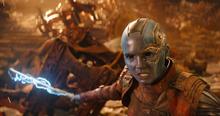 Небула во время битвы на Титане - Война бесконечности