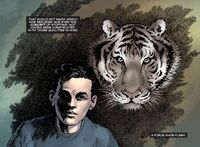 Frank imagines about the tiger