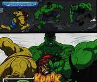 Spectacular Spider-Man Adventures 1 171 Hulk is pushing Flux and Ravage together