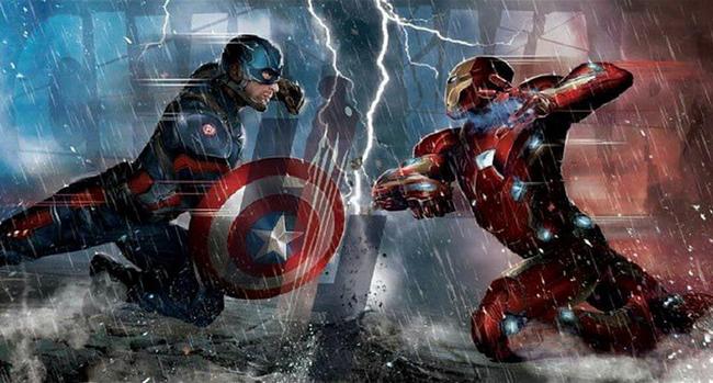 Concepto de arte de Capitán América Vs Iron Man en CivilWar