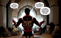 Tony Stark is explaining purpose if his visit to dwarves Earth-616