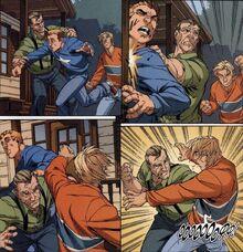 Бен Паркер (616) дерется со школьными хулиганами