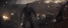 Беннер во время битвы с Таносом - Финал