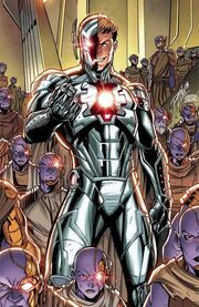 Ultron (Earth-616) and Henry Pym (Earth-616) from Infinity Countdown Vol 1 4 Lim Variant 001