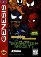 Spider-Man and Venom - Separation Anxiety Coverart SEGA GENESIS