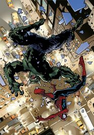 USM 115 Spider-Man and Green Goblin are falling