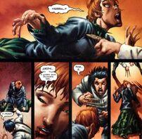Джеймс Хоулетт (616) убивает Роуз О'Хару (616)