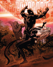 T'Challa (Earth-616) vs. Black Swan from New Avengers Vol 3 1
