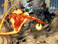 UCM Human Torch, Invisible Woman, Thing and Nick Fury vs Captain Marvel