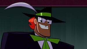 Music Meister is a hypnotic criminal with a penchant for theatre.