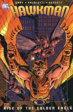 Cover for the Hawkman: Rise of the Golden Eagle Trade Paperback