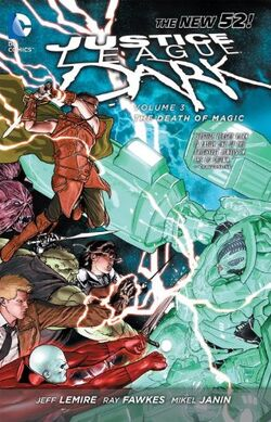 Cover for the Justice League Dark: The Death of Magic Trade Paperback