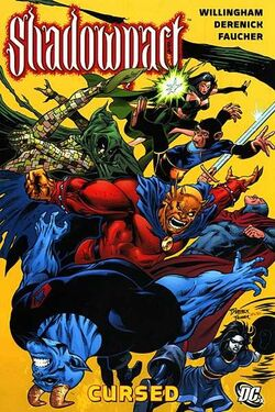 Cover for the Shadowpact: Cursed Trade Paperback