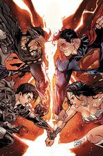 Superman and Wonder Woman vs. Zod and Faora
