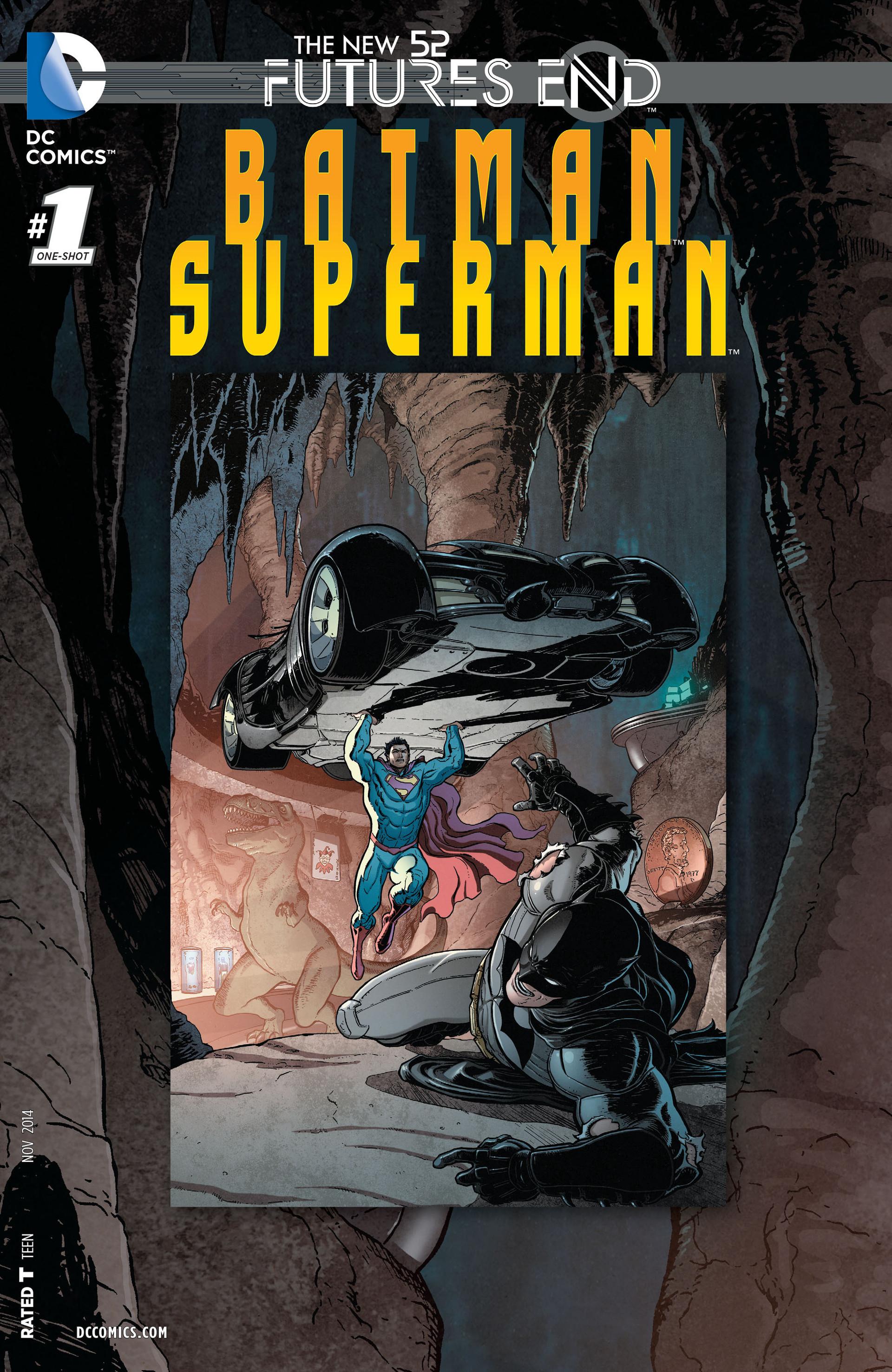 batman superman futures end 1 3d cover