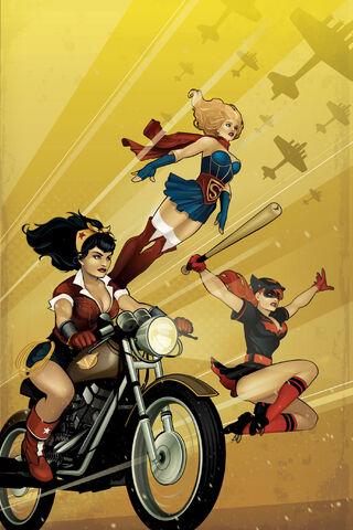 File:DC Comics Bombshells Vol 1 1 Textless.jpg