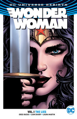 Cover for the Wonder Woman: The Lies Trade Paperback