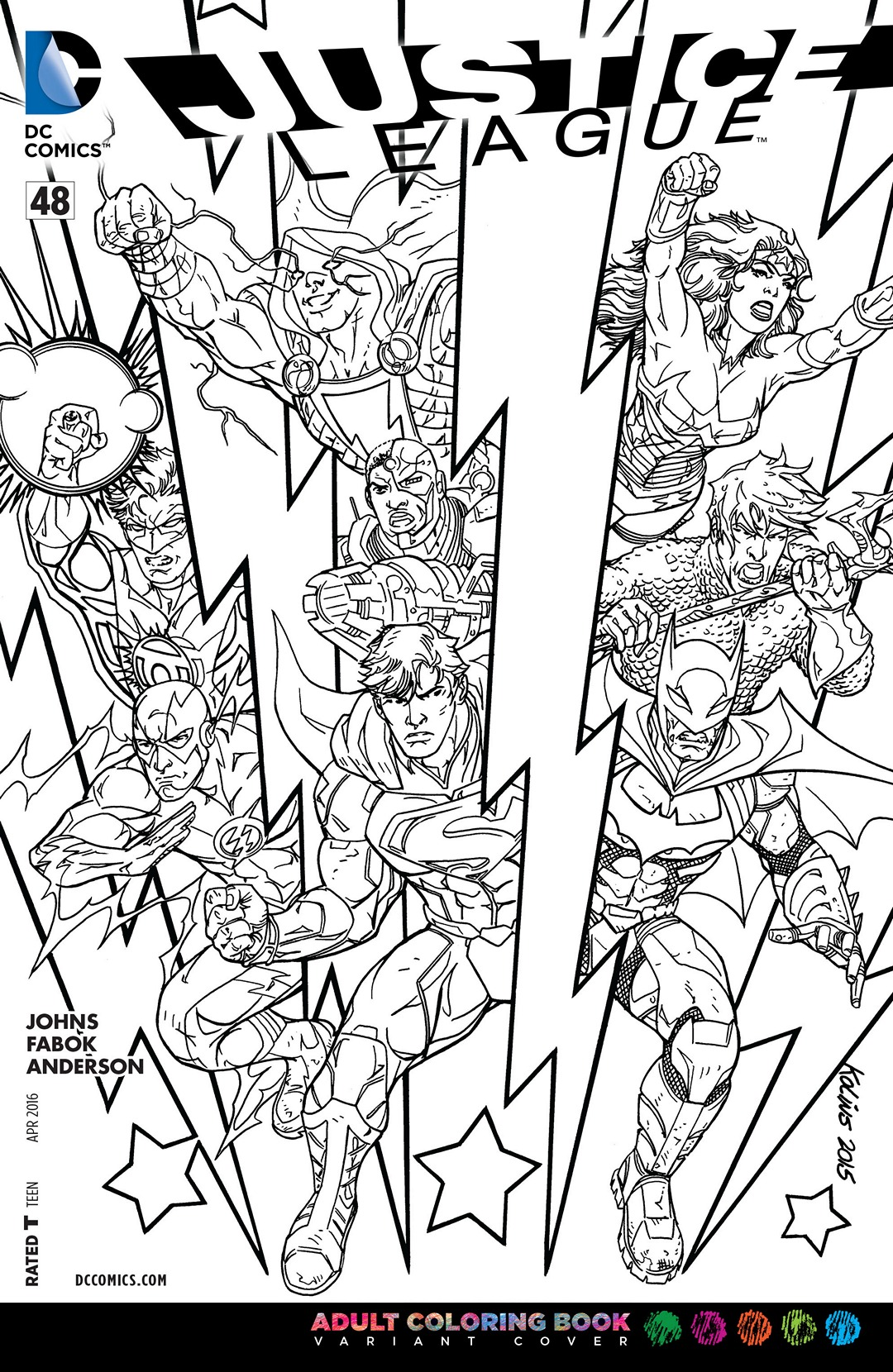 Image - Justice League Vol 2 48 Adult Coloring Book Variant.jpg | DC ...
