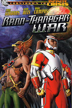 Cover for the Rann-Thanagar War Trade Paperback