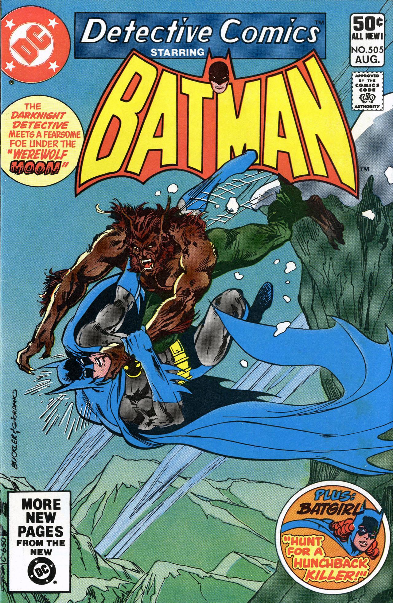 Batman #505, Detective Comics Werewolf Moon! 1981, DC