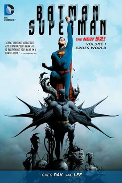 Cover for the Batman/Superman: Cross World Trade Paperback