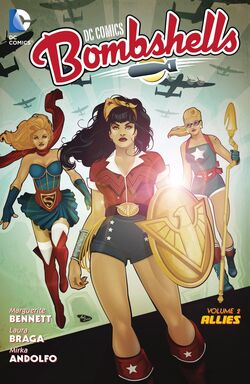 Cover for the DC Comics Bombshells: Allies Trade Paperback