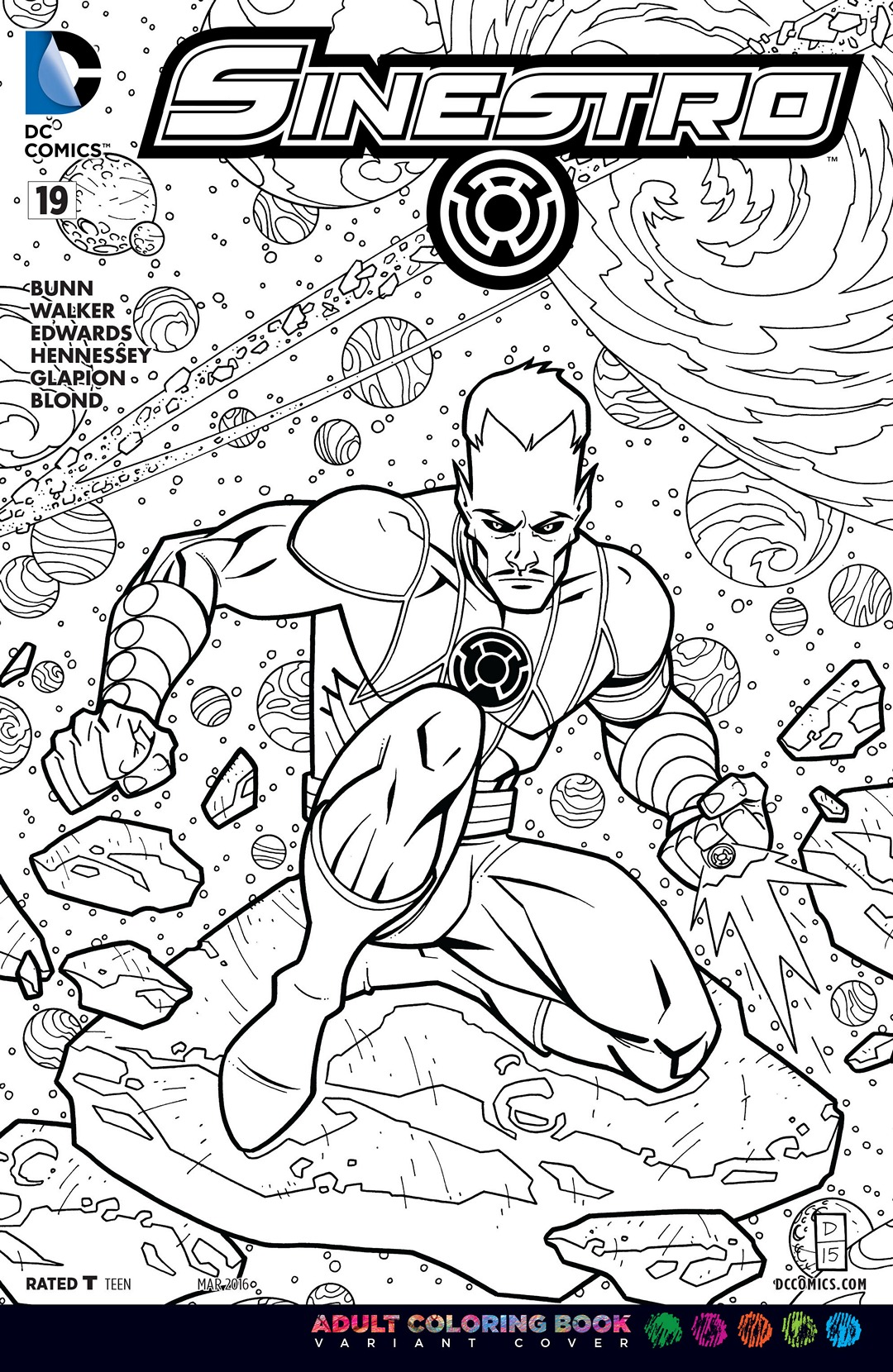 sinestro vol 1 19 adult coloring book variantjpg
