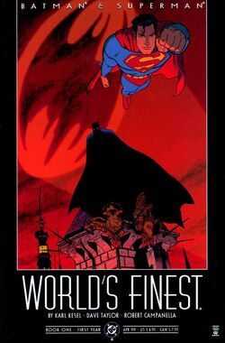 Cover for the Batman & Superman: World's Finest Trade Paperback