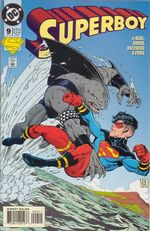 Superboy battles King Shark.