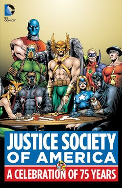 Cover for the Justice Society of America: A Celebration of 75 Years Trade Paperback