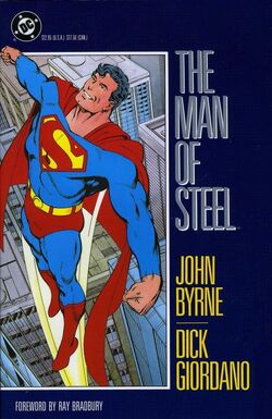 Cover for the The Man of Steel 1986 Trade Paperback