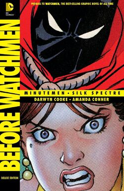 Cover for the Before Watchmen: Minutemen/Silk Spectre Trade Paperback