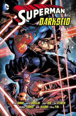 Cover for the Superman vs. Darkseid Trade Paperback