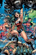 Wonder Woman fighting Parademons